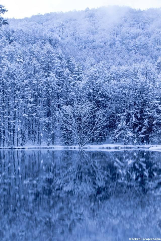 雪の水鏡 | 死ぬまでに行きたい!世界の絶景