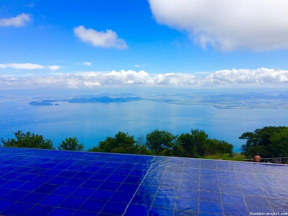 琵琶湖 テラス